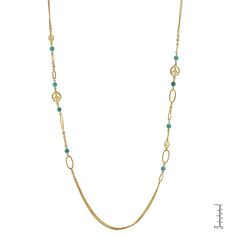 ... turquoise beaded necklace with a lobster clasp polished into a