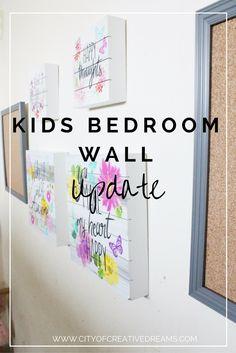 City of Creative Dreams: Kids Bedroom Wall Update