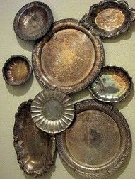 silver trays on wall - Google Search
