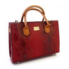 Trendy PU Leather and Snake Print Design Women's Shoulder Bag, RED in Shoulder Bags | DressLily.com