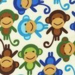 Urban Zoologie Flannel – Monkey – Royal