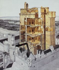 medieval castle design and construction - Yahoo Image Search Results