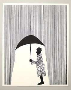 Raincoat 16 x 20 by benkafton on Etsy, $25.00