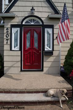 Paint your front door and trim for curb appeal