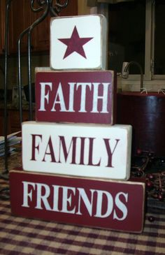 Faith Family Friends Primitive Country by BedlamCountryCrafts
