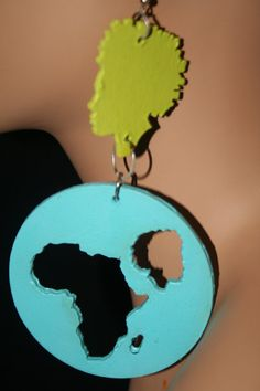 Afro Girl Wooden Africa earring / Tribal / by Illusionsofafrica, $23.99