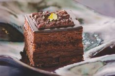A Piece of Chocolate Opera Cake Opera Cake, Romanian Desserts, Cooking For Beginners, Food Cakes, Something Sweet, Chocolate Recipes, Baked Goods, Cake Recipes, Sweet Tooth