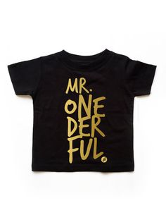 Hey, I found this really awesome Etsy listing at https://www.etsy.com/listing/229762963/ready-to-ship-black-boy-mr-onederful-tee