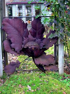 Purple metal flower gate