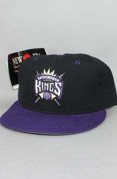 Vintage Deadstock  Sacramento Kings Fitted Hat (Black/Purple)    $45.00