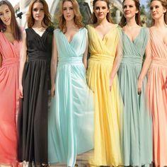 Elegant V-neck Sleeveless Floor Length Long Tank Dress Chiffon Hot Days Dress Bohemian Summer Women Dress Lady One-piece Dress $24.90