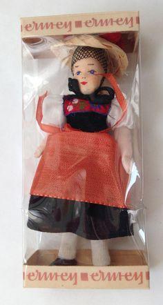 MIB Vtg Miniature Ermey Erna Meyer Dollhouse Lady Doll Oberbayern Germany MIG  #Ermey