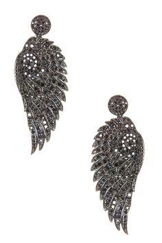 Black Diamond Wing Dangle Earrings - 3.85 ctw on HauteLook