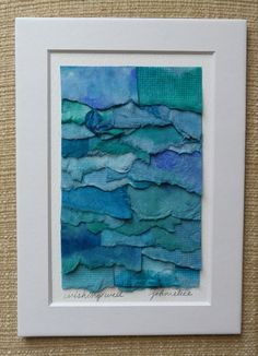 Handpainted Abstract Watercolor Paper Collage in by JohnElice