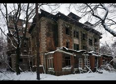 Riverside Hospital, North Brother Island, NY - has been untouched since 1963 when it was used as a hospital and quarantine station. It is now completely abandoned.