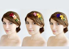 Hey, I found this really awesome Etsy listing at http://www.etsy.com/listing/150172879/primavera-bridesmaids-flower-hair-combs