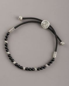 Black Onyx Bead Bracelet by John Hardy at Neiman Marcus.