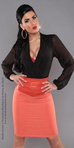 Mini falda modelo mayza negra h - Modelos de faldas de moda ...
