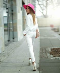 White and a little pink