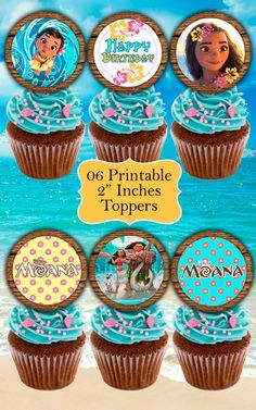 ❤ WELCOME TO LYTHIUM ART SHOP! ❤  PRINCESS MOANA DECOR KIT  This is a GREAT KIT!!! Unique printables with the most beautiful design for a very special Moana Birthday Party. Print as many as you need!  ❤ This listing is for an INSTANT DOWNLOAD ❤ Once payment is completed, you will receive: ° 1 ZIP File with JPEG FILES: 01 high quality image (300 dpi) Food Tent (Blank) NO EDITABLE 06 high quality images (300 dpi) Toppers 2 NO EDITABLE 01 high quality image (300 dpi) Water Bottle Label 8.5 x 2…