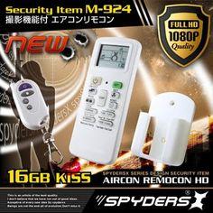 最新!超小型カメラ最前線: エアコンリモコン型 超小型ビデオカメラ スパイカメラ スパイダーズX (M-924) 1080P フ...