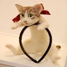 Cat Hairband Lets You Wear An Entire Kitten On Your Head