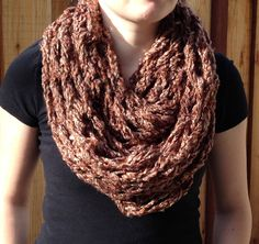 Arm+knit+Infinity+Scarf+in+Browns+blended+by+AphyNAngelDesigns,+$23.00