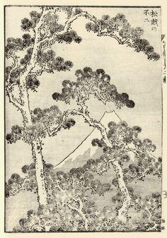 Katsushika Hokusai  Mt Fuji Behind the Pines