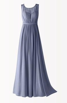 Flowing bridesmaid dress in the color of the ocean, by Jenny Yoo