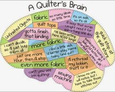 A Quilter's Brain - sort of a patchwork Patchwork Quilting, Quilting Room, Quilting Tips, Quilting Tutorials, Quilting Projects, Sewing Projects, Sewing Tips, Machine Quilting, Quilting Board