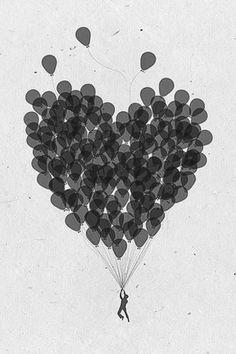 #heart #balloons #illustration