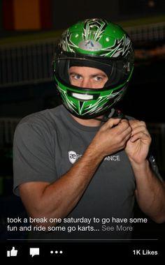 Paul Walker getting ready to go go-kart riding | via Paul Walker's Facebook page