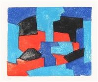 Composition in red and blue von Serge Poliakoff