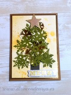 12 tarjetas para Navidad…SEMANA #8 – COPOS DE NIEVE                                                                                                                                                      Más