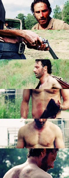 Rick Grimes. My heart was breaking for him during this episode....and then he took his shirt off and I got over it .... LADIES!!!!!!