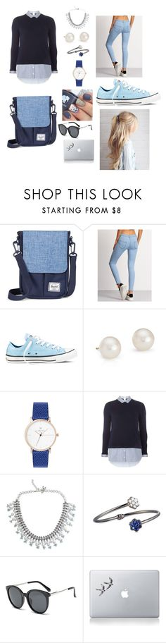 """""""Sem título #92"""" by angelica-curitiba ❤ liked on Polyvore featuring Converse, Blue Nile, Dorothy Perkins, NOVICA, Bayco and Vinyl Revolution"""