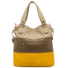 MG Collection Ece Tri-Tone Hobo Handbag, Black, One Size: Handbags: Amazon.com
