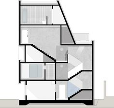Architecture studio Apparat-C planned the layout for this inner-city housing block in Seoul around the best positions for windows and balconies. Public Architecture, Architecture Board, Architecture Design, Architectural Section, Ground Floor Plan, How To Level Ground, House Floor Plans, Seoul, Layout