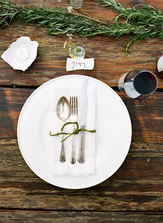 moss twine and a rosemary table garland//photos by @Ali Harper styling by me #ginnybranch