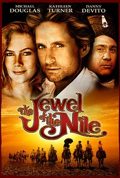 """The Jewel of the Nile"" - Kathleen Turner; 80s Movies, Series Movies, Action Movies, Great Movies, Film Movie, Movies Showing, Movies And Tv Shows, Cinema Posters, Movie Posters"