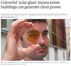 """clockworktardis:"""" onyourleftbooob:"""" solarpunk-aesthetic:"""" Just imagine a world full of beautiful stained glass windows which also generate electricity…[Oxford Photovoltaics]"""" """"Photovoltaic bricks and glass are one of my favorite technological. Save Our Earth, Save The Planet, Weird Facts, Fun Facts, Science Facts, Faith In Humanity Restored, Think, The More You Know, Social Issues"""