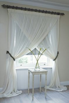 Great idea for our formal living room drapes...