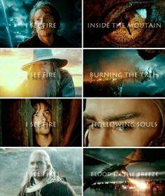 I see fire - the Hobbit Movies Le Hobbit Thorin, Fili Y Kili, Legolas And Aragorn, Bilbo Baggins, Thorin Oakenshield, Hobbit Quotes, I See Fire, Concerning Hobbits, The Hobbit Movies