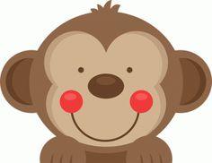 Daily Freebie Miss Kate Cuttables--Peeking Monkey SVG scrapbook cut file cute clipart files for silhouette cricut pazzles free svgs free svg cuts cute cut files Safari Party, Safari Theme, Felt Crafts, Paper Crafts, Jungle Theme Birthday, Cute Monkey, Cute Clipart, Cute Cuts, Animal Faces