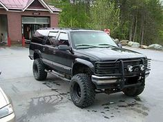 View the car challenge between a 1999 Chevrolet Suburban LT owned by ZanySmurph and a 1994 GMC Yukon SLE owned by Lifted Chevy Trucks, Hot Rod Trucks, Chevrolet Trucks, Gmc Trucks, Diesel Trucks, Cool Trucks, Chevrolet Suburban, 2004 Chevy Silverado, Chevy Girl