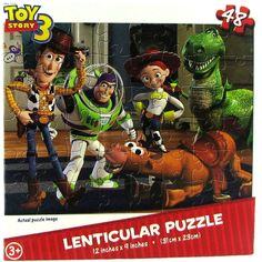 Disney Pixar Toy Story 3 48 Pc Lenticular Puzzle Ft. Woody
