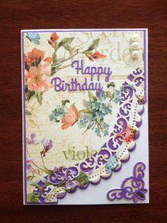 Birthday card using Spellbinders dies