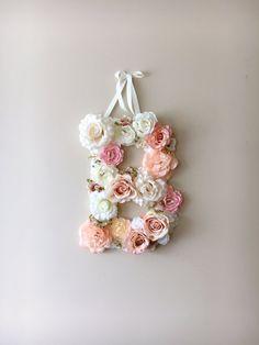 Fleur de lettres lettres Floral Vintage par PaulettaStore sur Etsy