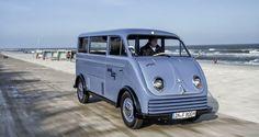 Una furgoneta DKW eléctrica de 1956 restaurada por Audi - http://www.actualidadmotor.com/2015/01/25/una-furgoneta-dkw-electrica-de-1956-restaurada-por-audi/