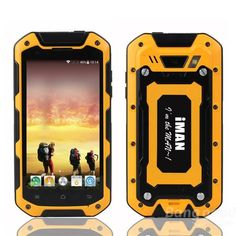 iMAN i5800 MTK6582 1.3GHz IP67 Waterproof Outdoor Smartphone has 4.5-inch 1280 x 720 pixels IPS capacitive touch screen which is made of Corning Gorilla glass. It's a good chioce for Outdoor Sports Amateurs. It is bulit in Dual Cameras:Dual Cameras,front camera 2.0MP, back camera 8.0MP with flashlight. Supports Dual SIM card Dual Standby and multi-language.Support SD/TF Card up to 32GB.